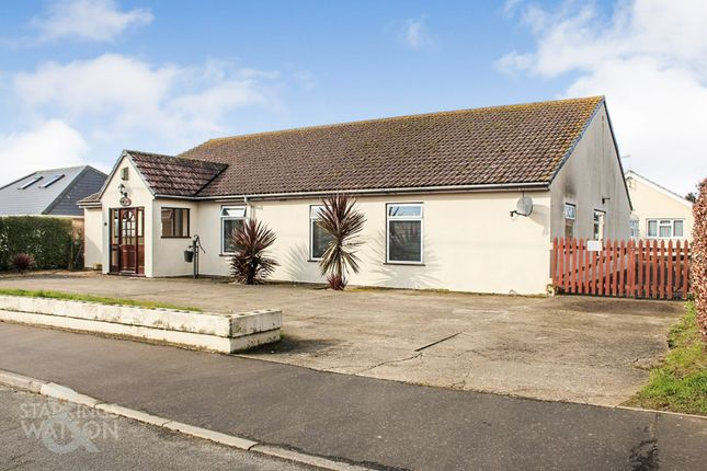 Thumbnail Detached bungalow for sale in Church Road, Cantley, Norwich