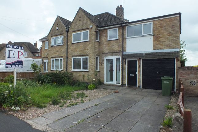 Thumbnail Semi-detached house to rent in Silverton Road, Oadby, Leicester