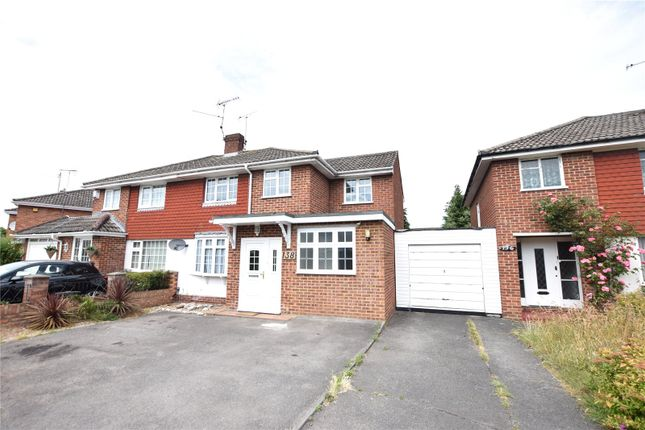 Thumbnail Semi-detached house to rent in Antrim Road, Woodley, Reading, Berkshire