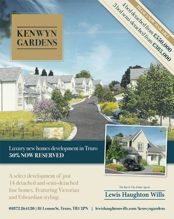 Thumbnail Detached house for sale in Kenwyn Gardens, Church Road, Kenwyn, Truro