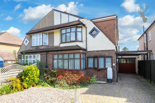 Thumbnail Semi-detached house for sale in Woodland Way, Theydon Bois, Epping