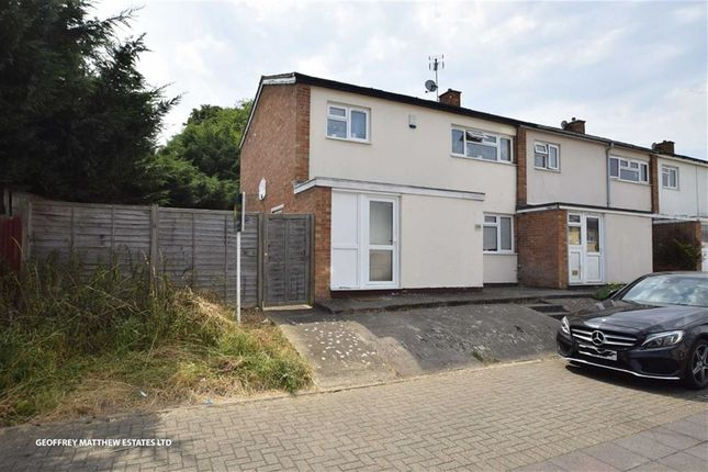 Thumbnail End terrace house for sale in Hookfield, Harlow, Essex