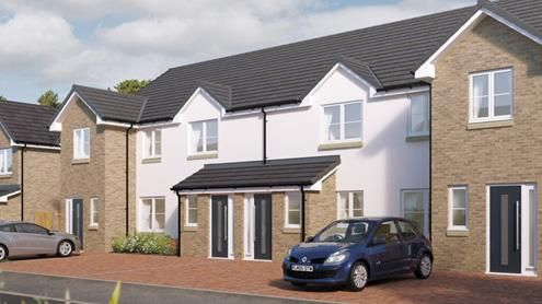 Thumbnail Terraced house for sale in Borlandwalk, Glassford, Strathaven