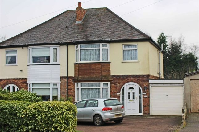 Thumbnail Semi-detached house for sale in Watling Street, Mile Oak, Tamworth, Staffordshire
