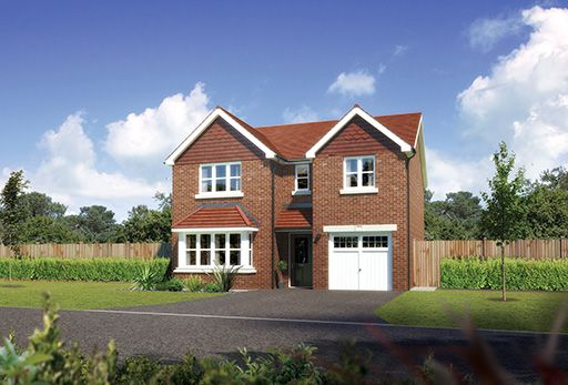 "Thumbnail Detached house for sale in ""Hampsfield"" At Sherbourne Avenue, Chester CH4, Chester,"