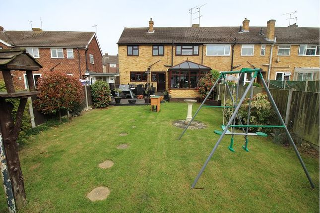 Thumbnail End terrace house for sale in Whitethorn Gardens, Chelmsford, Essex