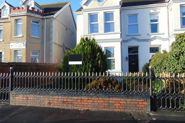 Thumbnail Semi-detached house for sale in Queen Victoria Road, Llanelli Town Centre, Llanelli, Carms