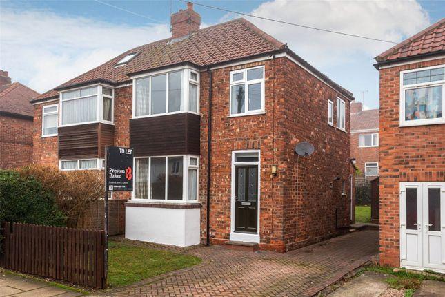 Thumbnail Semi-detached house to rent in Kilburn Road, York