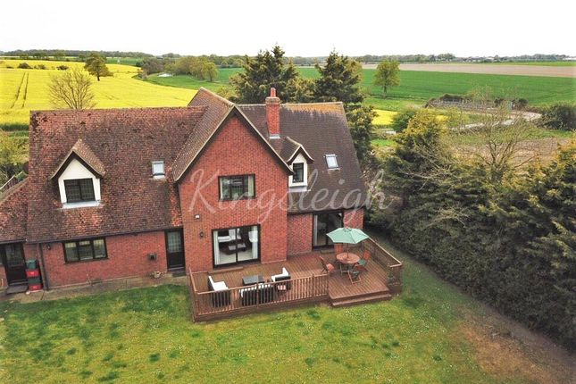 Rear Aerial View of Thorrington Road, Great Bentley, Colchester, Essex CO7