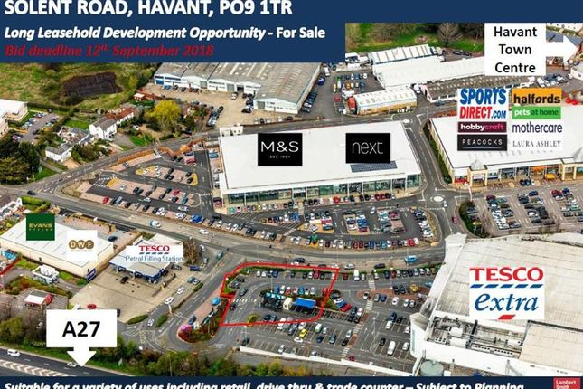 Thumbnail Commercial property for sale in Development Land, Solent Road, Havant
