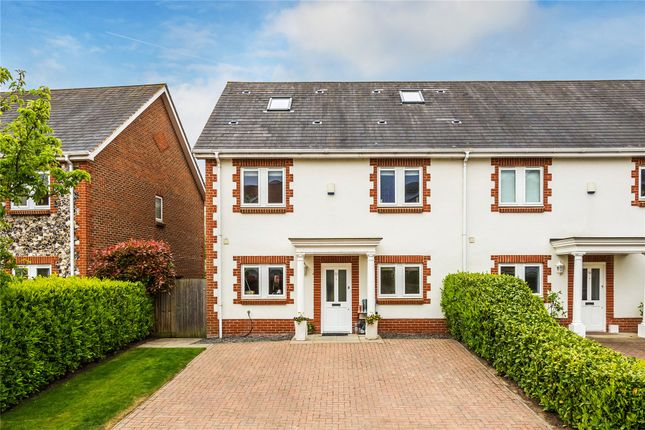 Thumbnail End terrace house for sale in Chobham, Surrey