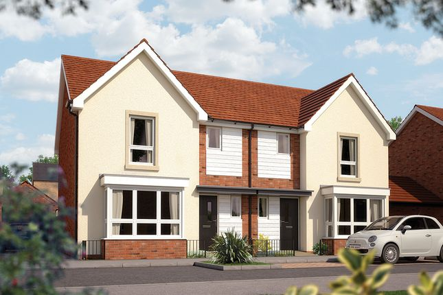 "Thumbnail Semi-detached house for sale in ""The Epsom"" at Limousin Avenue, Whitehouse, Milton Keynes"