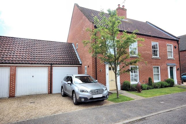 Thumbnail Semi-detached house for sale in Oaklands Crescent, Holt
