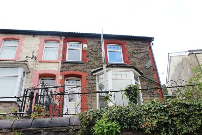 Thumbnail End terrace house for sale in Aberrhondda Road, Porth