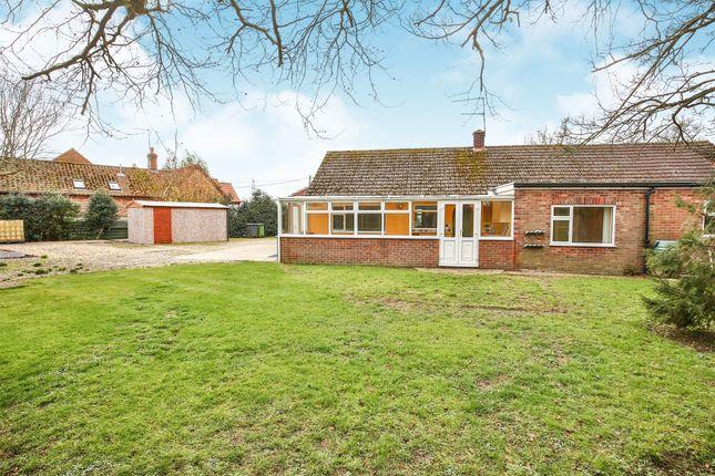 Thumbnail Detached bungalow for sale in Barrows Hole Lane, Little Dunham, King's Lynn