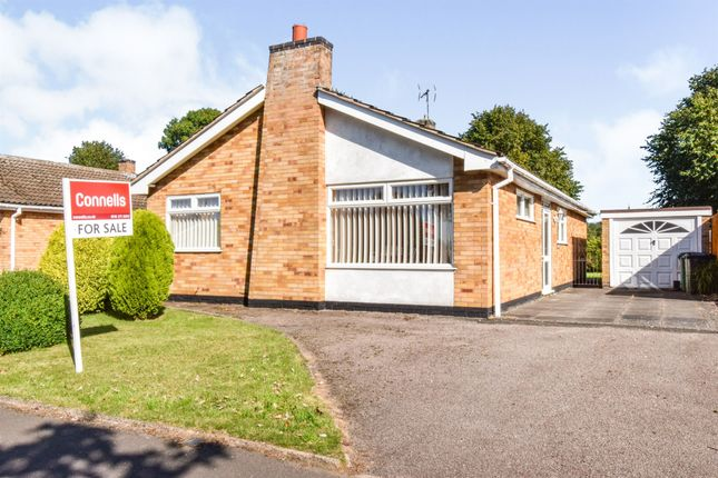 Thumbnail Detached bungalow for sale in Swale Close, Oadby, Leicester