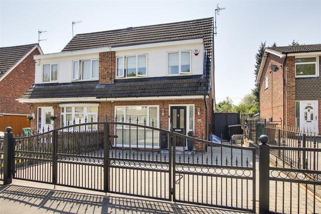 Thumbnail Semi-detached house for sale in Neston Drive, Cinderhill, Nottinghamshire