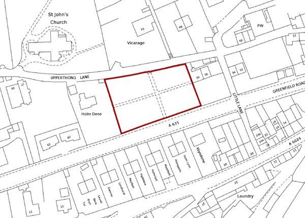 Thumbnail Land for sale in The Upper Graveyard, Upperthong Lane, Holmfirth