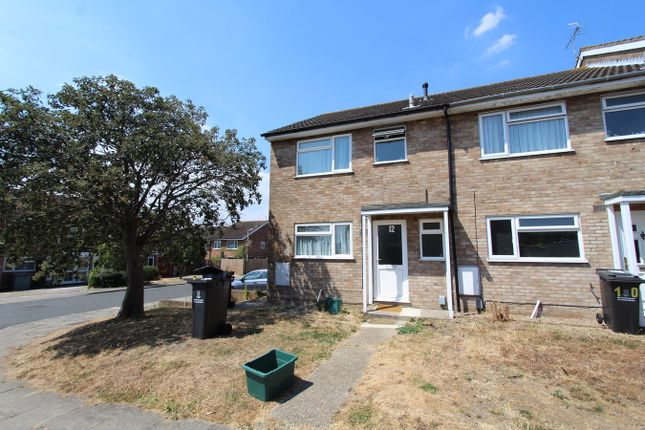 Thumbnail End terrace house for sale in Howe Close, Colchester