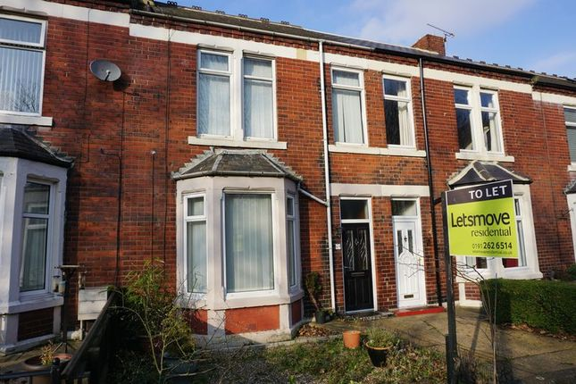 Thumbnail Terraced house to rent in South Terrace, Wallsend