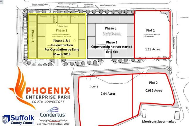 Land for sale in 3 Plots Of Land, Phoenix Enterprise Park, Lowestoft Industrial Estate