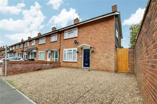 Thumbnail End terrace house for sale in Gainsborough Road, Crawley