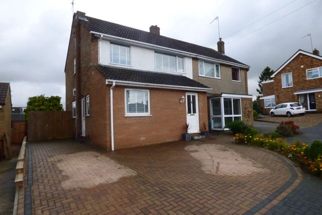 Thumbnail Semi-detached house for sale in Ansell Way, Hardingstone, Northampton
