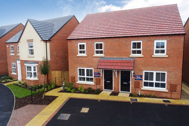 Thumbnail Semi-detached house for sale in Wagtail Avenue, Kibworth Beauchamp, Leicester, Leicestershire