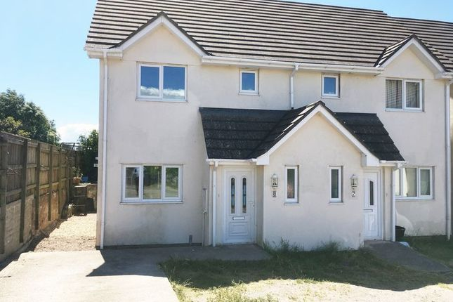 Thumbnail 3 bed semi-detached house to rent in Richina Drive, North Tawton