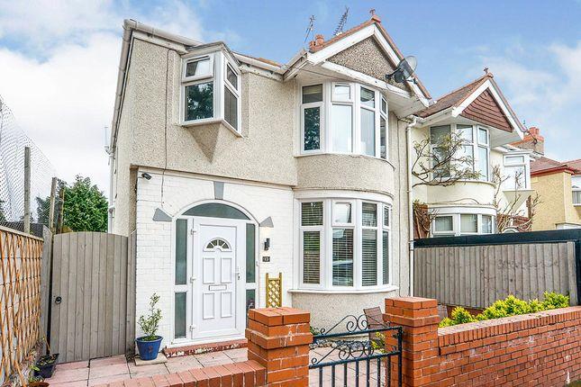 Thumbnail Semi-detached house for sale in Orton Grove, Rhyl, Denbighshire