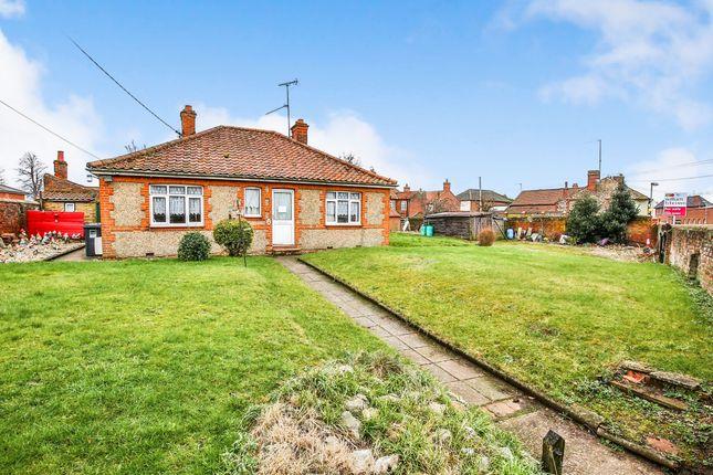 Thumbnail Detached bungalow for sale in Holt Road, Fakenham