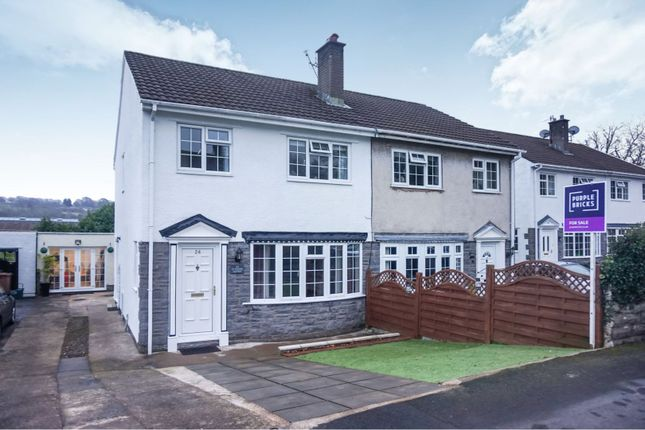 Thumbnail Semi-detached house for sale in Trinity Close, Hengoed
