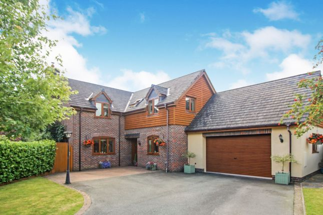 Thumbnail Detached house for sale in Groes Close, Guilsfield, Welshpool