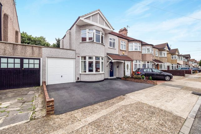 Thumbnail End terrace house for sale in Parkside Avenue, Romford