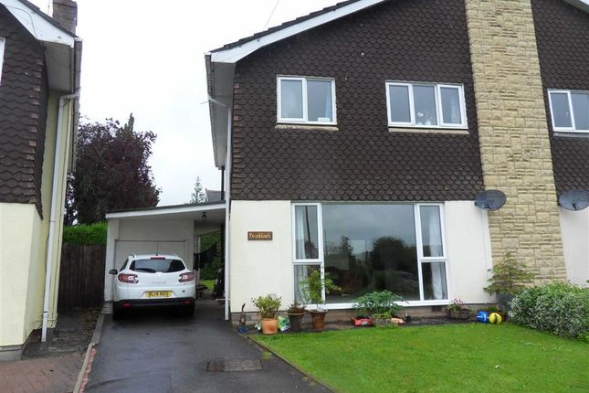 Thumbnail Semi-detached house to rent in Monmouth Road, Usk, Monmouthshire