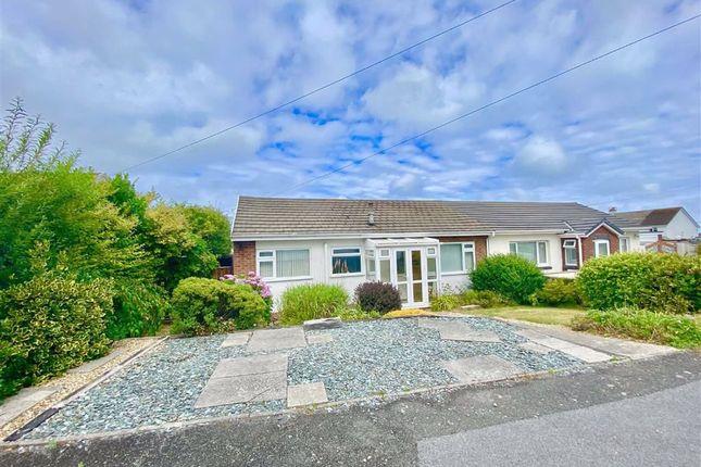 Thumbnail Semi-detached bungalow for sale in Heol Y Gorwel, Aberporth, Ceredigion