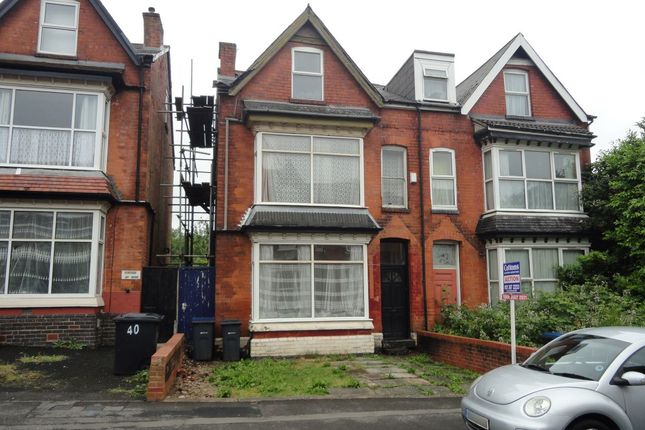 Thumbnail Semi-detached house for sale in 42 Stanmore Road, Edgbaston, Birmingham, West Midlands