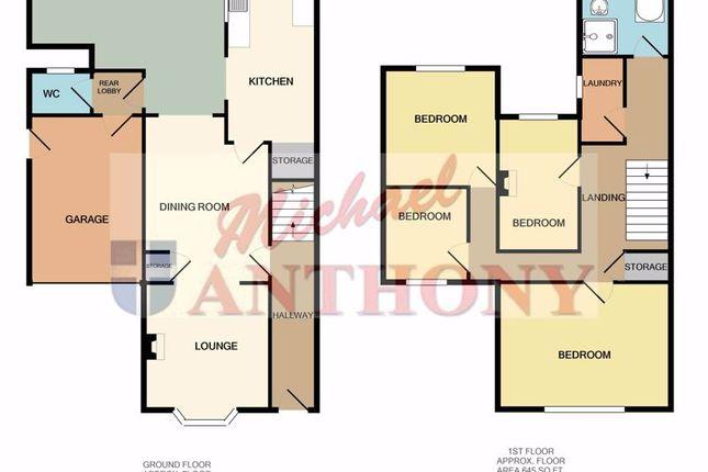 Floor Plan of Leon Avenue, Bletchley, Milton Keynes MK2