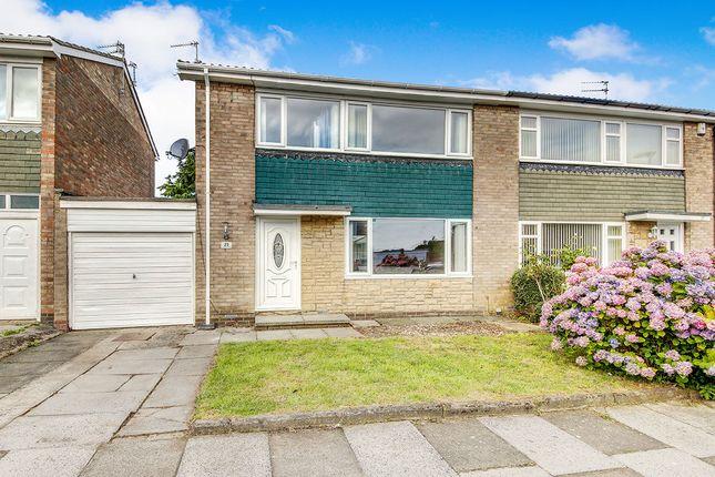 Thumbnail Semi-detached house for sale in Crookham Way, Cramlington