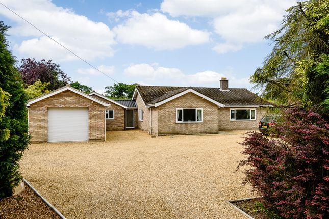 Thumbnail Detached bungalow for sale in Cross Road, Swanton Abbott, Norwich