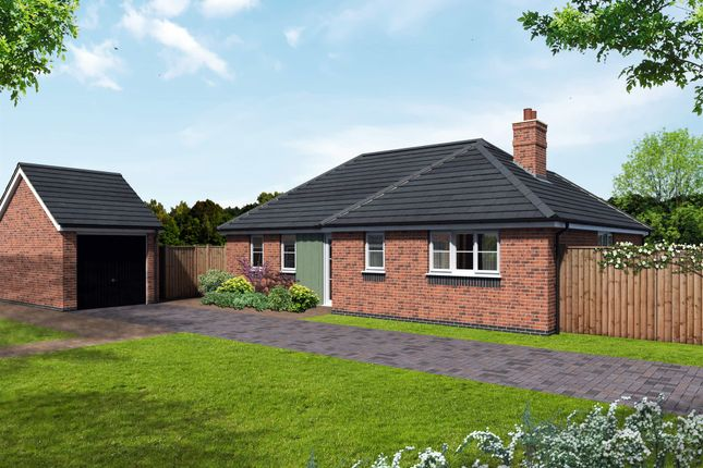 Thumbnail Detached bungalow for sale in Newton Lane, Austrey, Atherstone