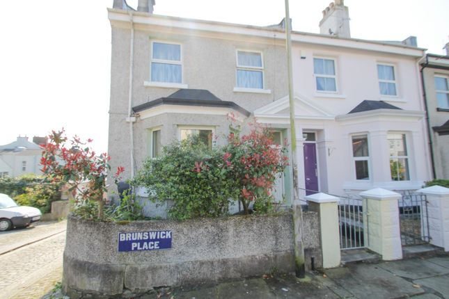 Thumbnail End terrace house for sale in Brunswick Place, Stoke, Plymouth