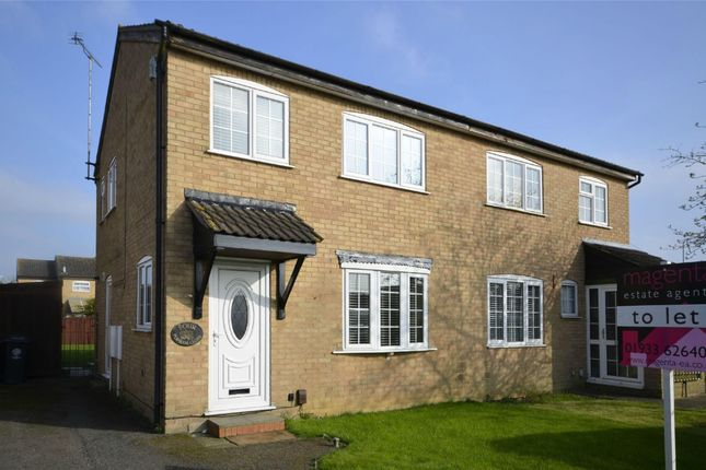 3 bed semi-detached house to rent in Popham Close, Raunds, Wellingborough, Northamptonshire NN9