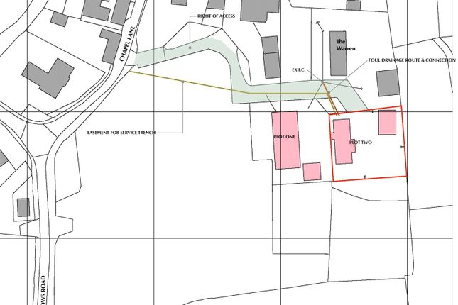 Site Plan of Chapel Lane, Osgathorpe, Loughborough LE12
