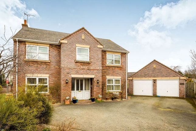 Thumbnail Detached house for sale in The Brambles, Crew Green, Shrewsbury