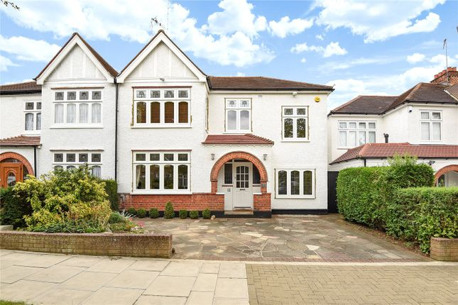 Thumbnail Semi-detached house for sale in Barrow Point Avenue, Pinner, Middlesex
