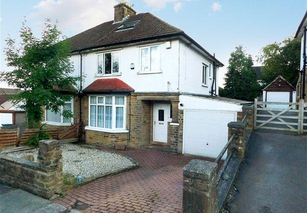 Thumbnail Semi-detached house for sale in Nab Wood Road, Nab Wood, Shipley