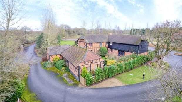 Thumbnail Detached house for sale in New Mill Road, Eversley, Hook