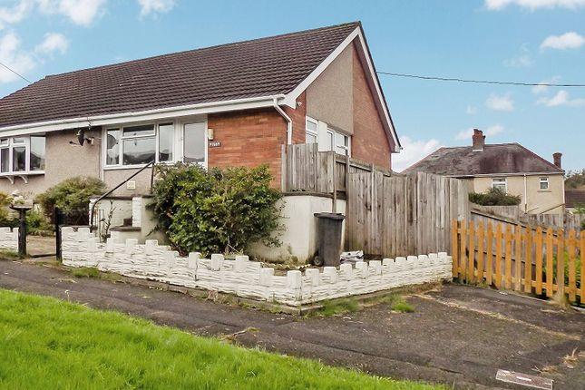Thumbnail Semi-detached bungalow for sale in Darren Road, Briton Ferry, Neath, Neath Port Talbot.