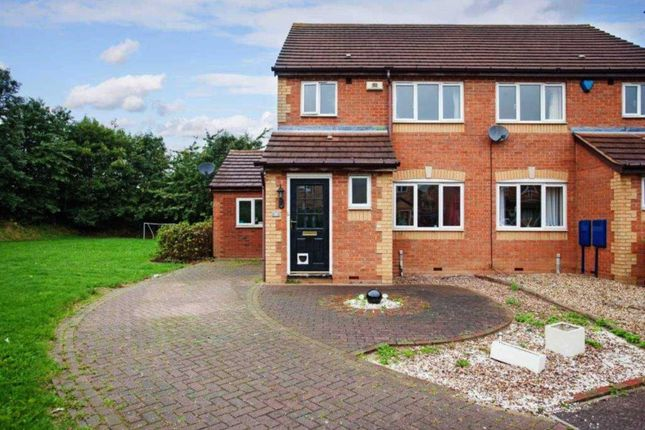 Thumbnail Semi-detached house for sale in Newbolt Close, Newport Pagnell